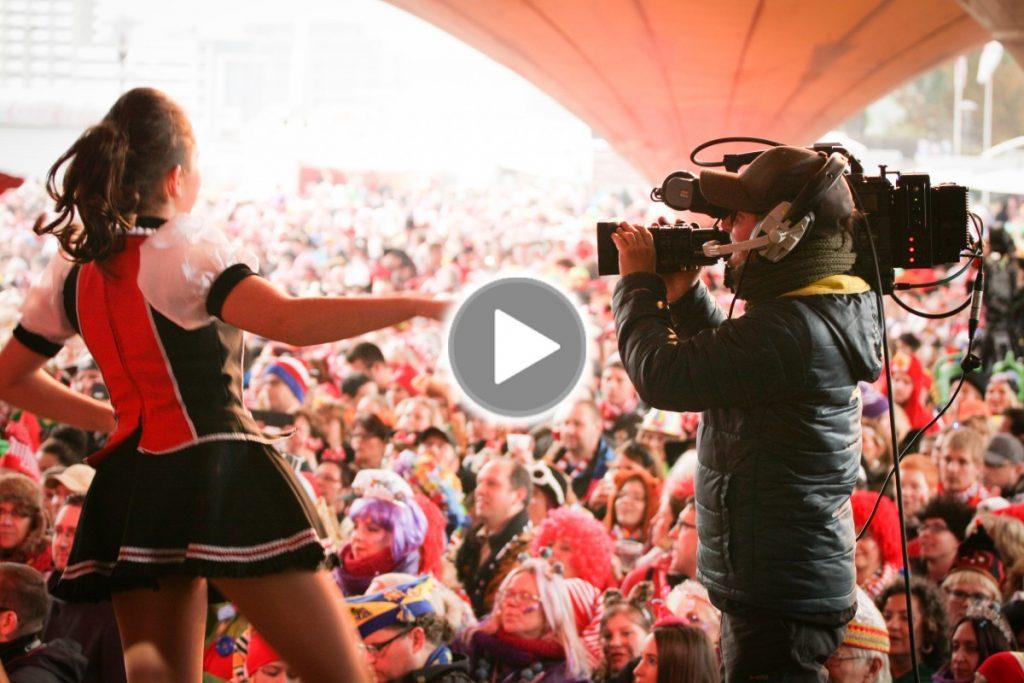 Liveübertragung im Karneval