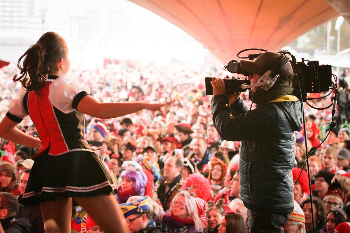 Kameratechnik und Liveübertragung im Karneval