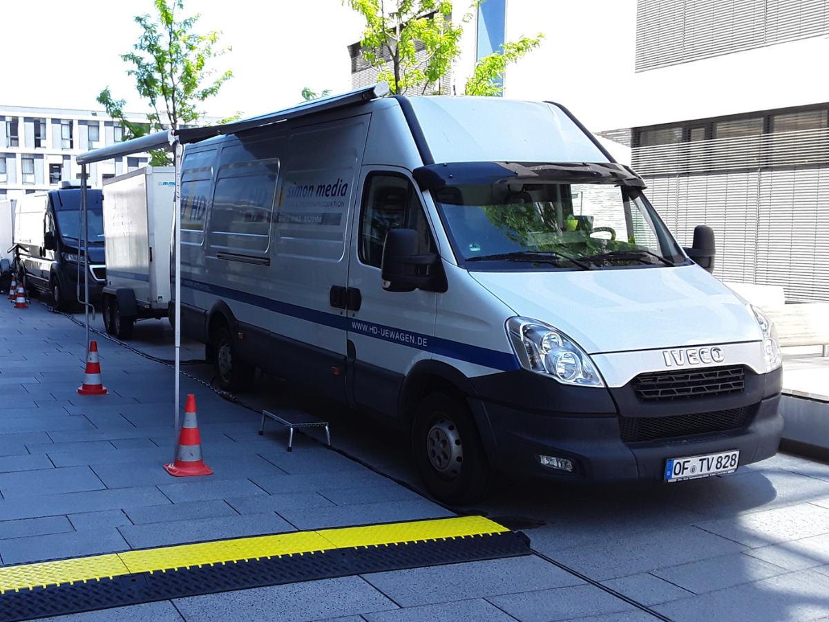 Ü-Wagen, Kameratechnik für virtuellen Studientag in Heilbronn