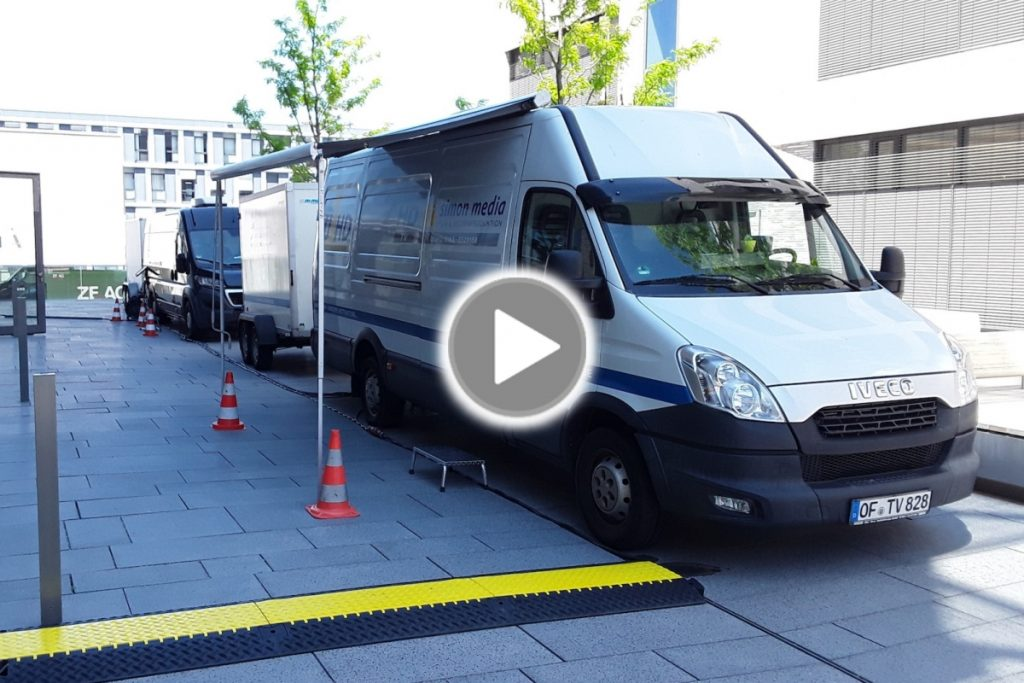 Ü-Wagen und Kameratechnik für Virtuellen Studientag in Heilbronn